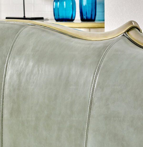 Sofa Tân Cổ Điển Đẹp Quý Tộc, Chất Liệu Da Cao Cấp Cho Phòng Khách |Nội Thất Đương Đại