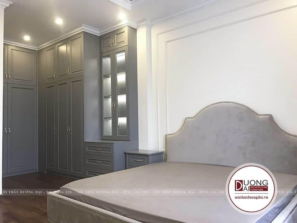 Phòng ngủ theo phong cách tân cổ điển nhà chị Quỳnh Anh