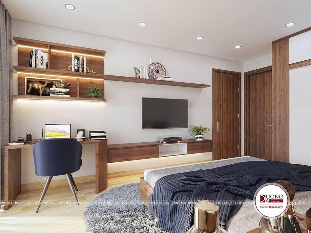 Phòng ngủ master căn hộ 3 phòng ngủ