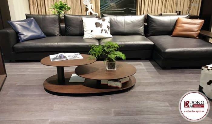 Bàn sofa gỗ óc chó đẹp và đẳng cấp