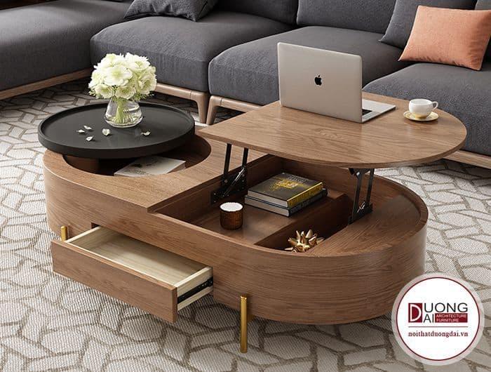 Thiết kế bàn độc đáo với nhiều ngăn đựng cất giữ đồ dùng