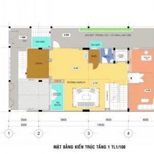 Thiết Kế Kiến Trúc Nhà 4 Tầng 145m2 Kết Hợp Kinh Doanh & Văn Phòng