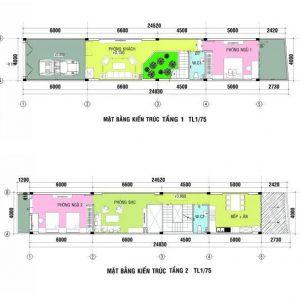 Tư Vấn Thiết Kế Kiến Trúc Nhà Ống 96m2 4 Tầng (4x24m) Cho Gia Đình 3 Thế Hệ