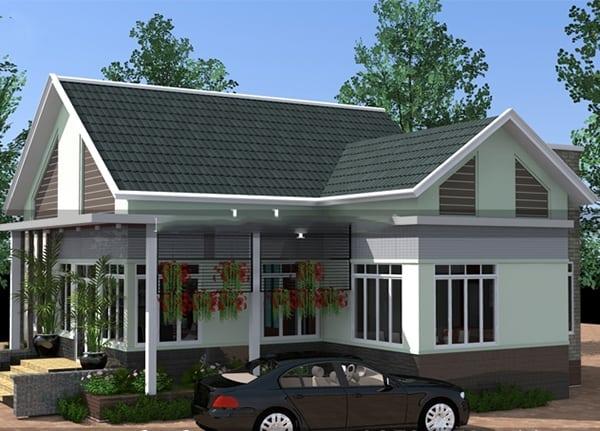 Nhà Mái Thái 300 Triệu đẹp có gara