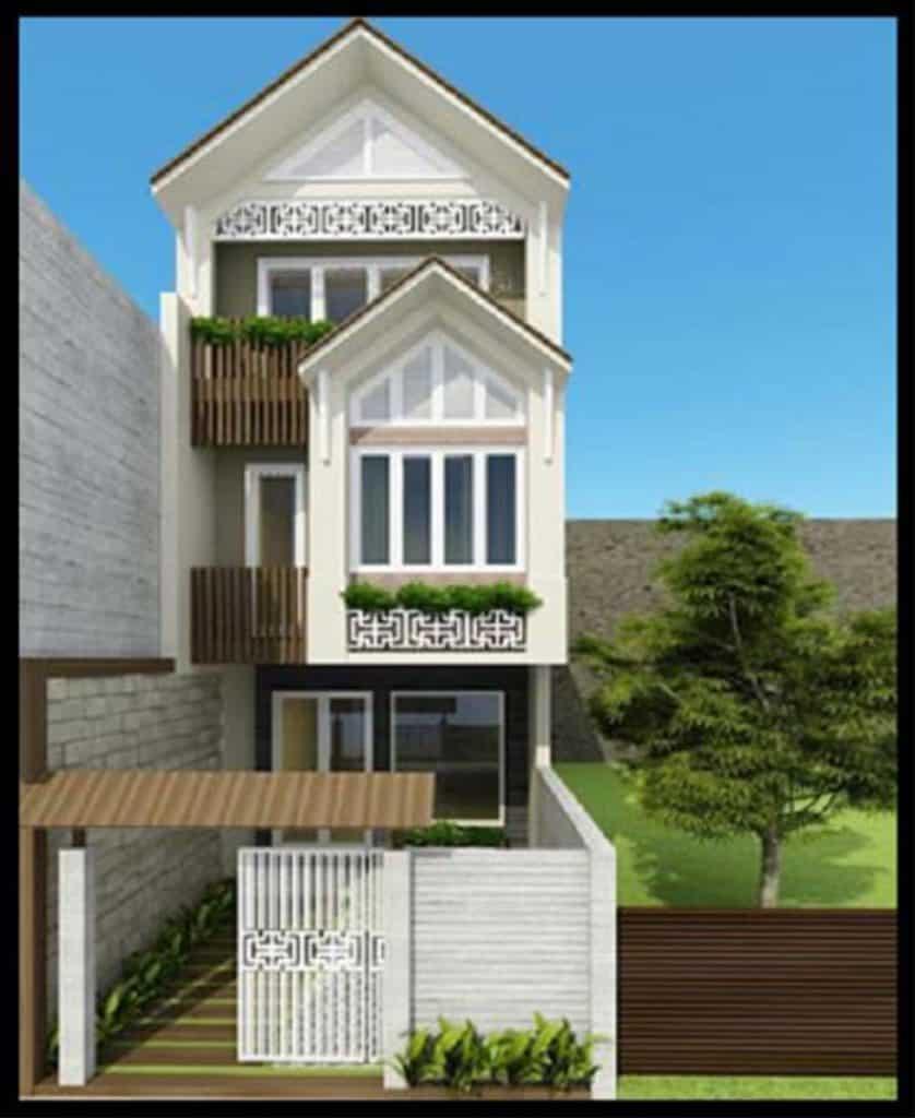 Ngôi nhà tiện nghi với 3 tầng