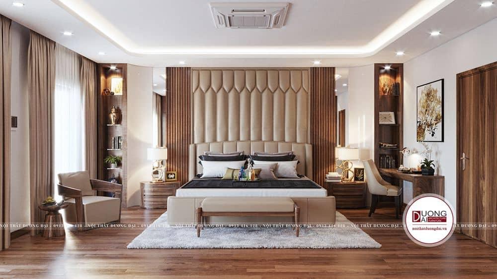 Thiết kế phòng ngủ sang trọng và đẳng cấp của biệt thự