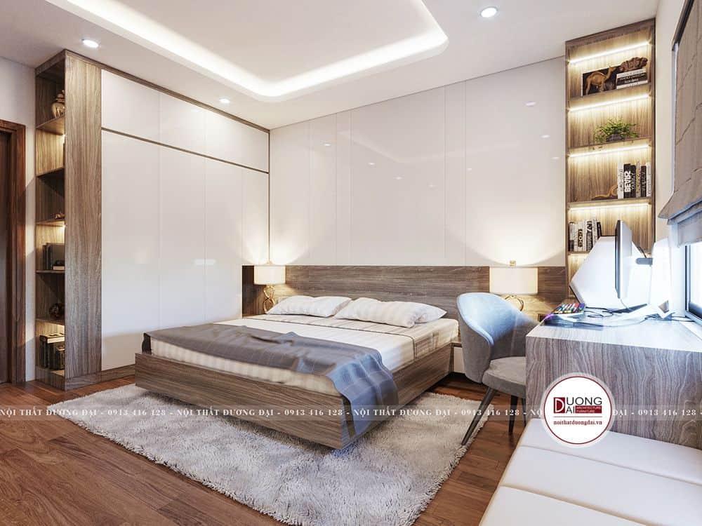 Tủ quần áo sang trọng và hiện đại cho phòng ngủ Master