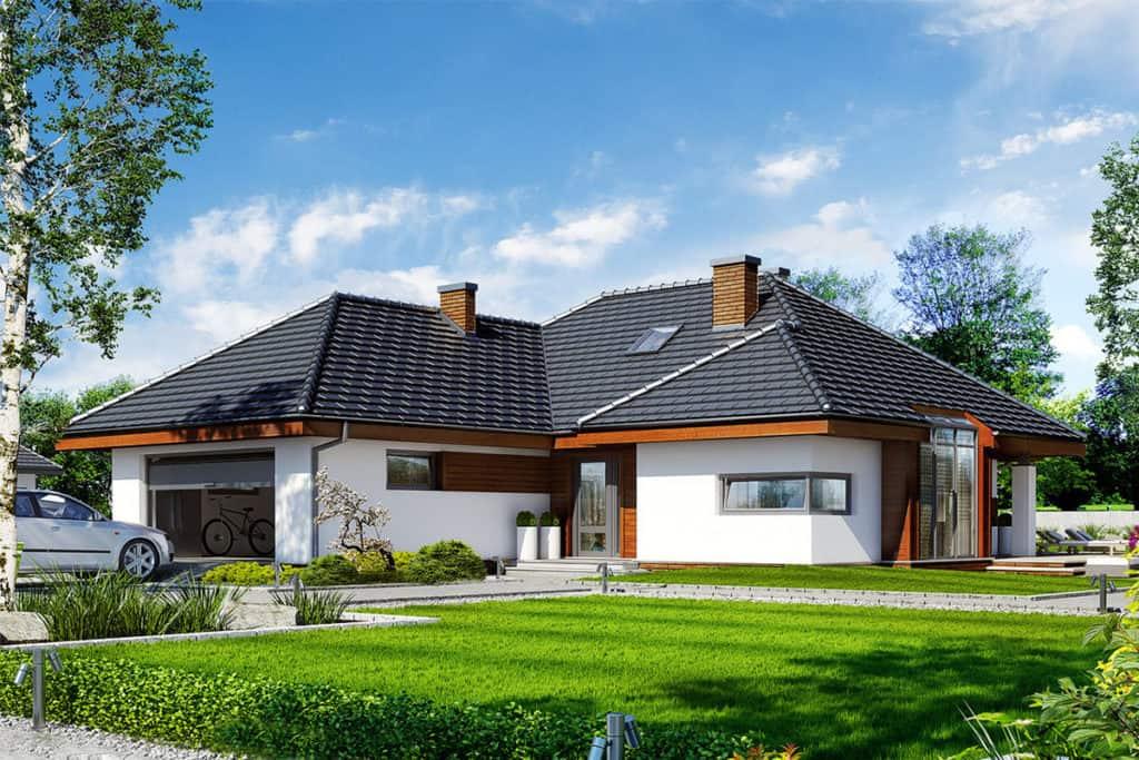 Sử dụng mái thái thiết kế nhà cấp 4 đang rất phổ biến những năm gần đây