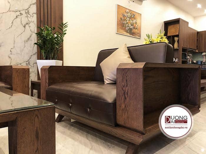 Bộ bàn ghế phòng khách gỗ sồi Mỹ đẹp nhất