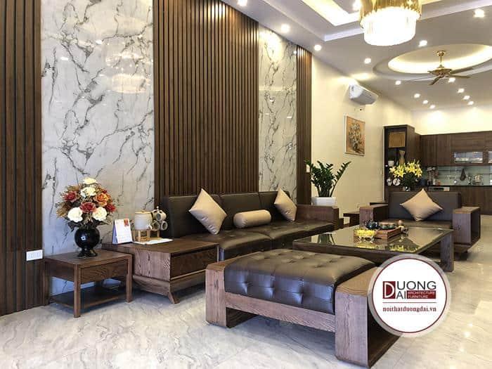 Bộ Sofa Gỗ Sồi | Bàn Giao Cho Anh Võ Ở Bắc Ninh