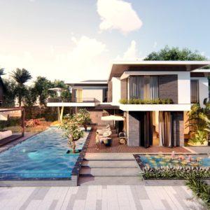 Biệt Thự 2 Tầng Có Bể Bơi Phong Cách Hiện Đại, Sang Chảnh