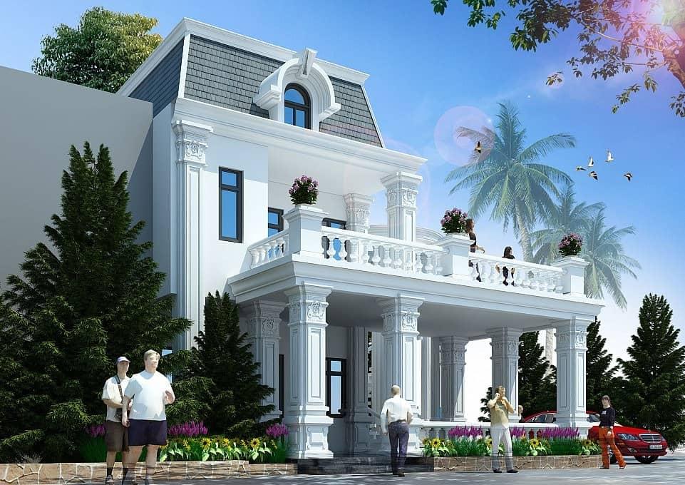 Biệt thự 90m2 được lấy cảm hứng từ kiến trúc Âu Mỹ