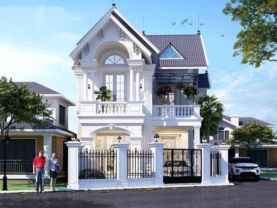 Nhà Mái Thái 2 Tầng 3 Phòng Ngủ Đẹp, Chi Phí Xây Dựng Hợp Lý