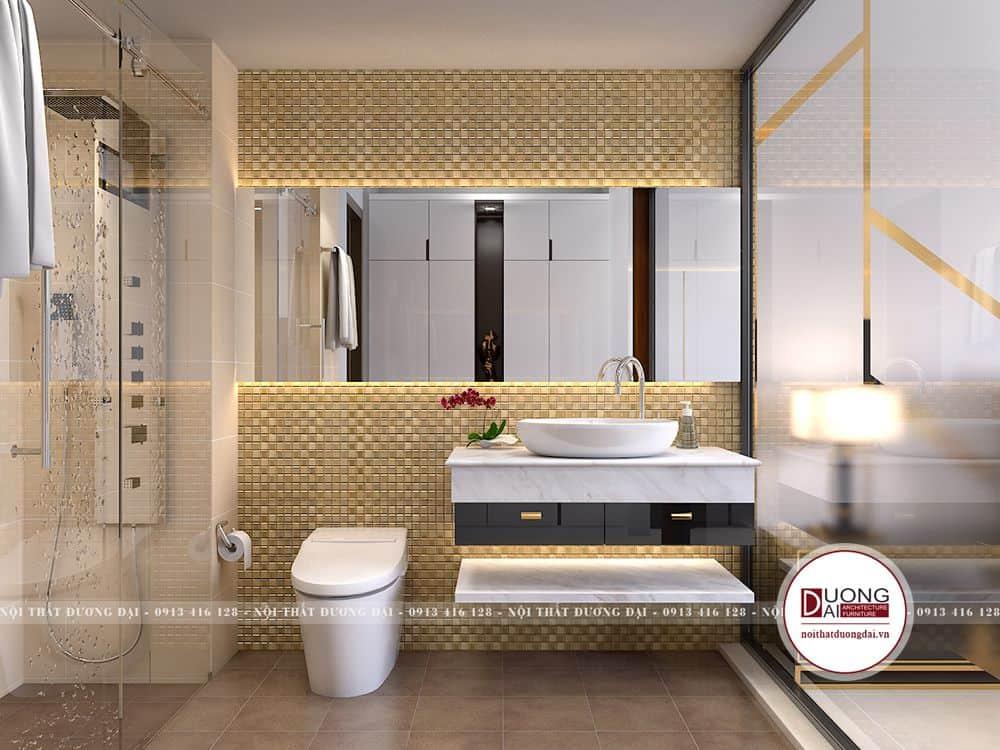 Không gian phòng WC sang trọng sạch sẽ