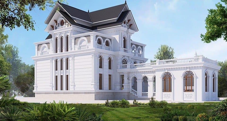Thiết kế nội thất biệt thự 7x14m phong cách Châu Âu