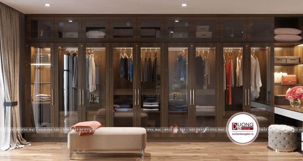Thiết kế tủ quần áo rộng rãi