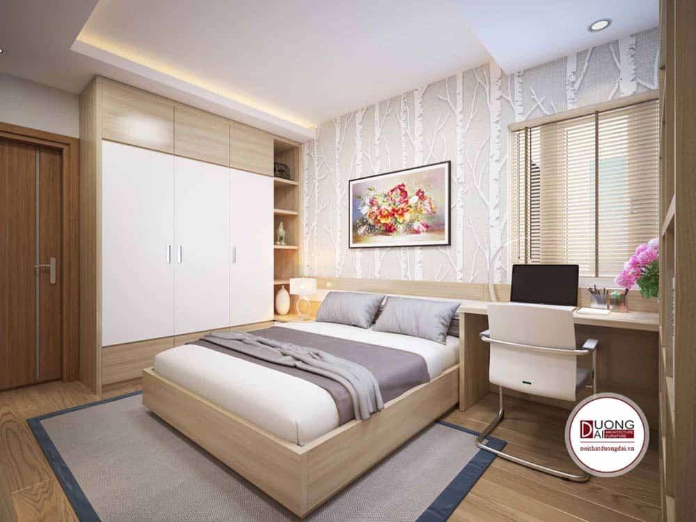 Phòng ngủ Master với nội thất đầy đủ tiện nghi