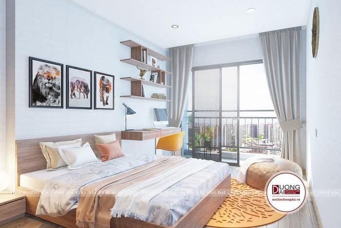 Phòng ngủ có không gian mở với ánh sáng ngập tràn