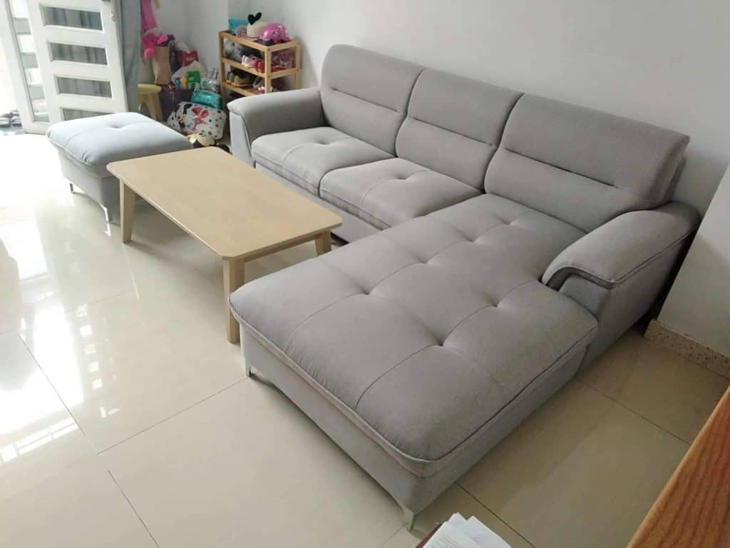 Ghế Sofa Hình Chữ L | Bàn Giao Cho Chị Yến Ở Hải Dương