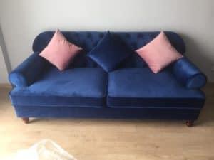Ghế Sofa Văng Tân Cổ Điển Màu Xanh| Bàn Giao Cô Huệ Ở Hưng Yên