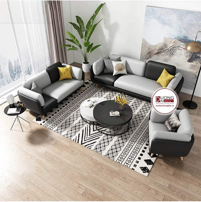 Bộ Sofa Nỉ Kiểu Dáng Hiện Đại Sang Trọng Cho Phòng Khách