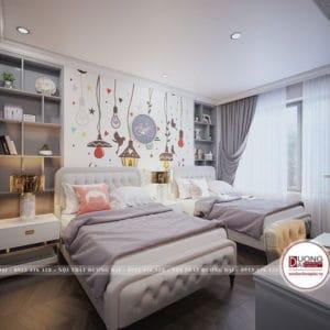 Thiết Kế Phòng Ngủ 2 Giường |Tư Vấn Trọn Gói Thi Công