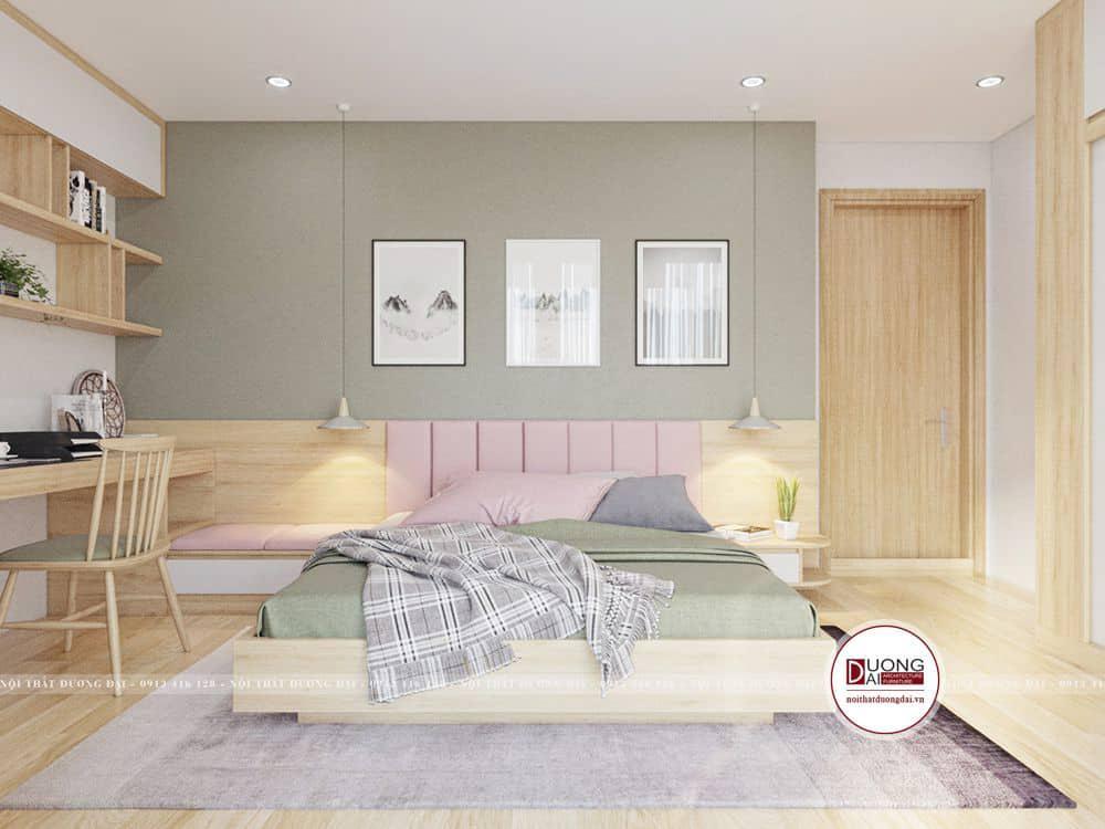 Phòng ngủ bé gái rực rỡ sắc màu tươi sáng