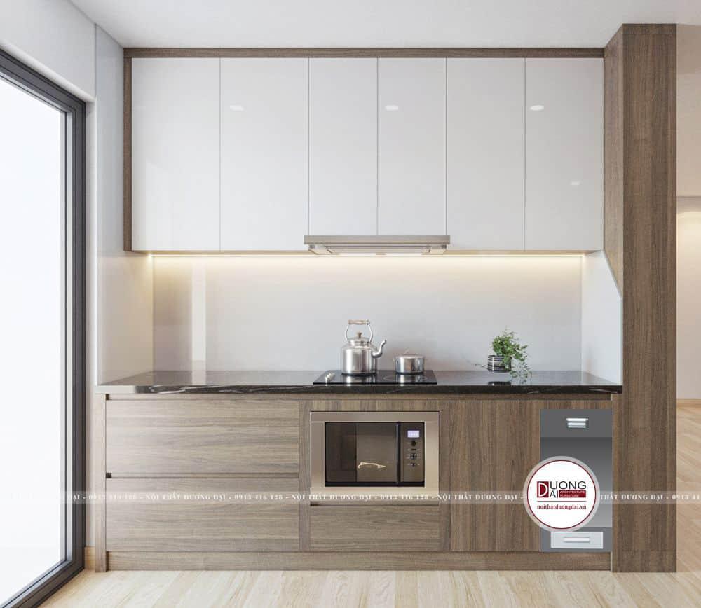 Tủ bếp được làm từ gỗ MDF An Cường cao cấp
