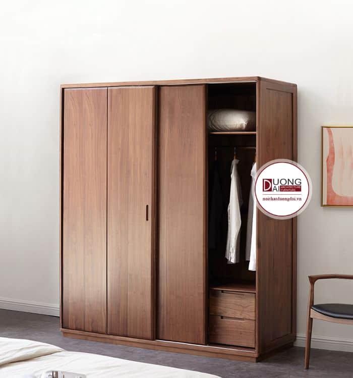 Thiết kế tủ cánh trượt tiện nghi và linh hoạt cho phòng ngủ chung cư