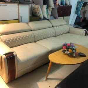 [07/03/2020] Sofa Da Màu Kem Hiện Đại   Bàn Giao Cho Cô Lan Ở Bắc Giang