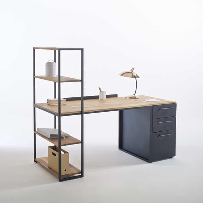 Thiết kế bàn đa năng kết hợp kệ trang trí
