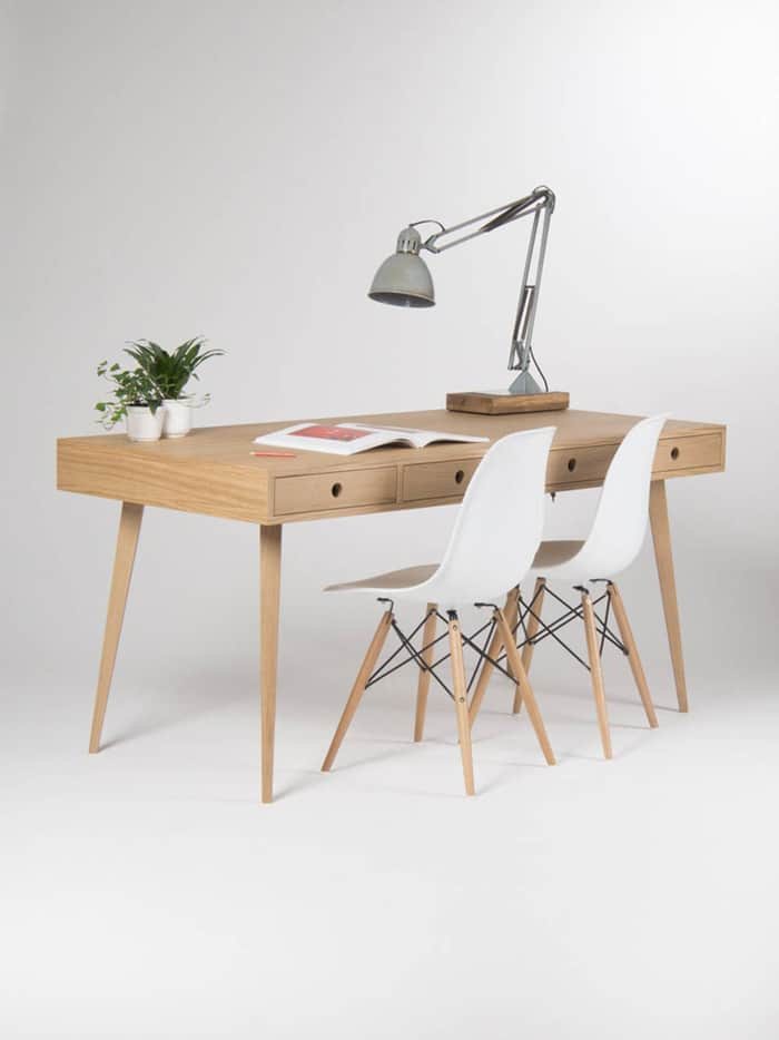 Mẫu bàn dài dành cho 2 người làm việc