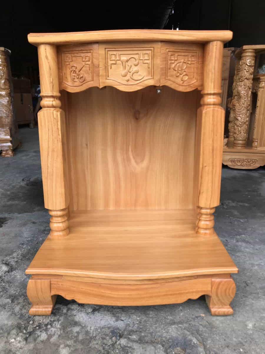 Mẫu bàn thờ Thần Tài với thiết kế đơn giản