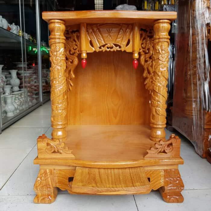 Thiết kế bàn thờ với hoa văn rồng phượng đẹp