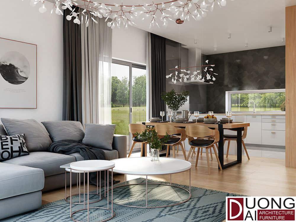 Nội thất gỗ mang lại nét hiện đại và thanh nhã cho căn hộ