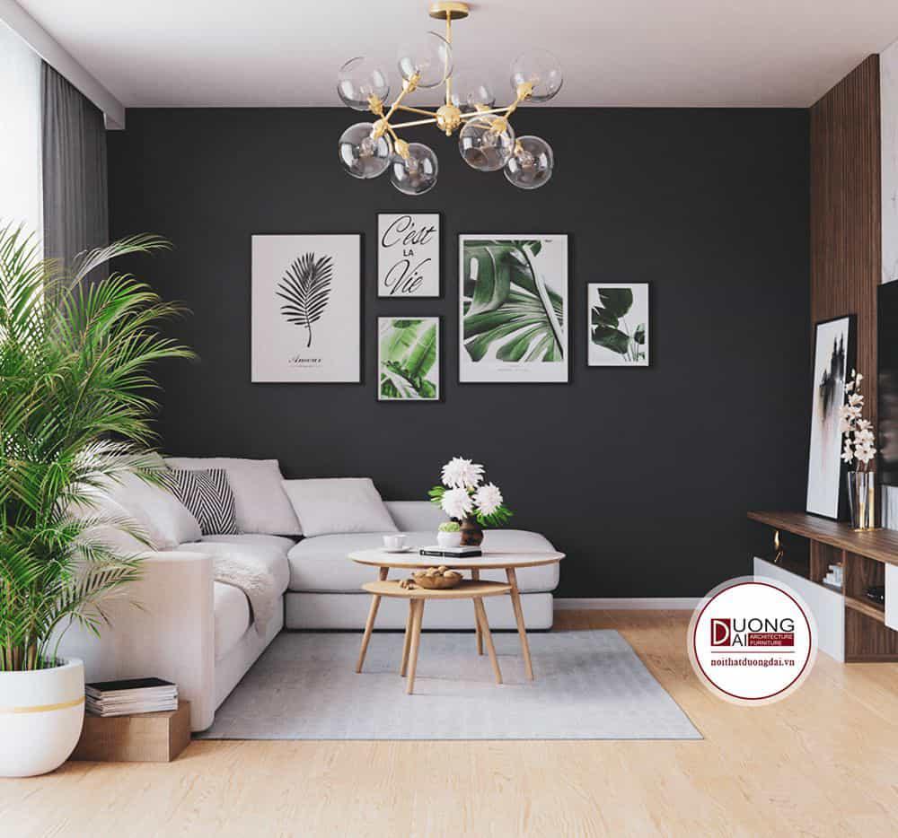 Nội thất phòng khách gỗ tự nhiên mang hơi thở thiên nhiên
