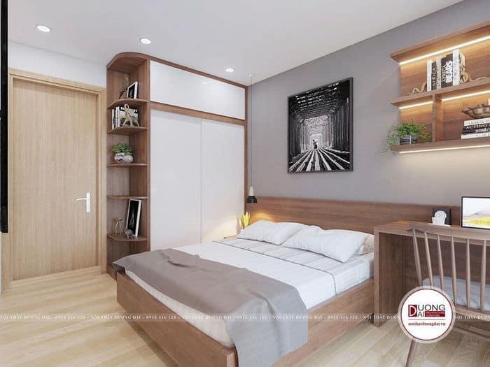 Tủ quần áo cánh trượt bằng gỗ MDF phủ Laminate trắng
