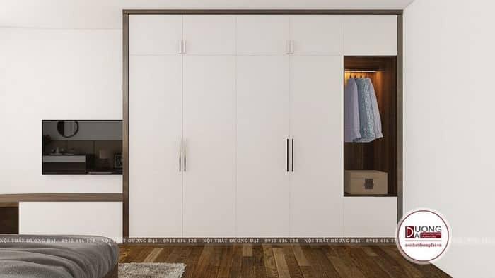 Thiết kế đẹp mắt của tủ quần áo trong phòng ngủ Master