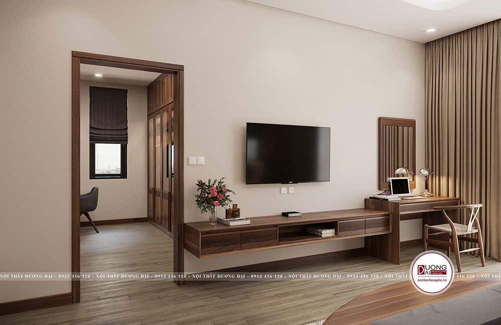 Thiết kế liên thông trong phòng ngủ và khu thay đồ