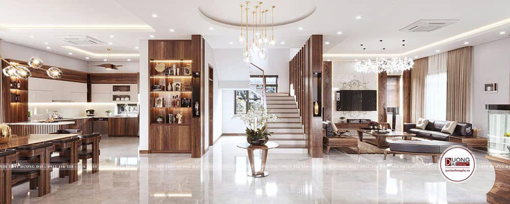 Thiết kế nội thất biệt thự Sơn La của anh Hoàng Anh