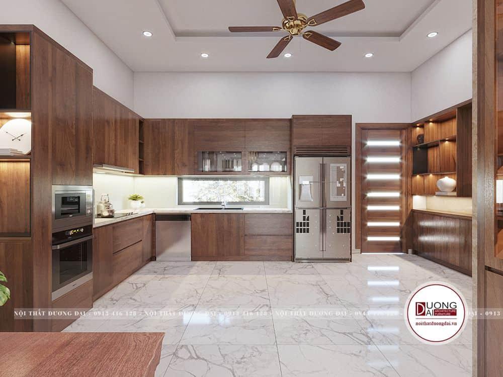 Thiết kế tủ đa năng đầy ấn tượng cho phòng bếp