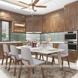 Tủ Bếp Gỗ Tự Nhiên | BST 50+ Mẫu Tủ Bếp Đẹp Và Ấn Tượng Nhất