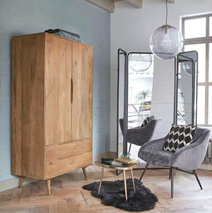 Mẫu tủ gỗ ASH hiện đại và cá tính cho phòng ngủ