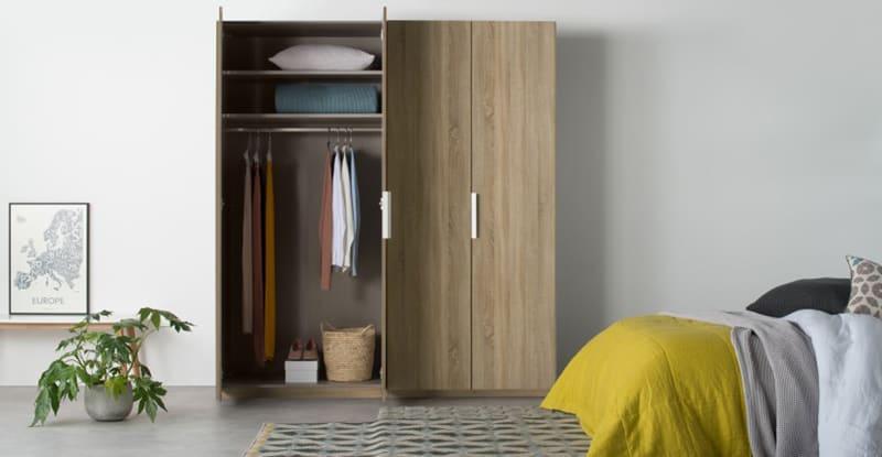 Thiết kế tủ 4 cánh gỗ hiện đại và cá tính