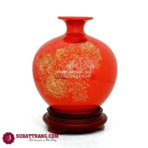 Bình Hút Lộc Vẽ Vàng Kim 22cm - SBT120079