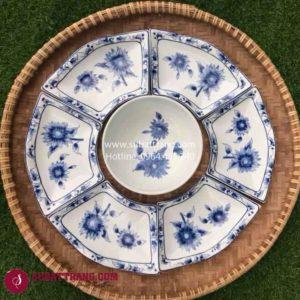 Set Đĩa Vẽ Hoa Dây Bát Tràng - SBT60266