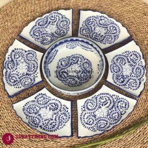 Set Đĩa Vẽ Hoa Dây Bát Tràng - SBT60270