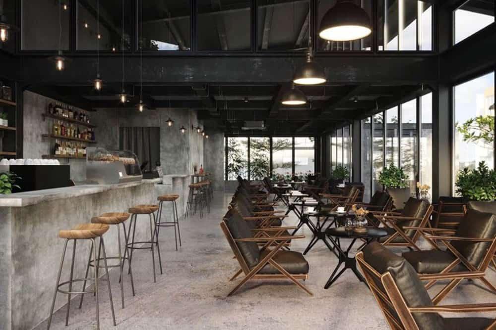 Thiết Kế Quán Cafe Mặt Tiền 10m Tư Vấn Hoàn Thiện Nội Thất
