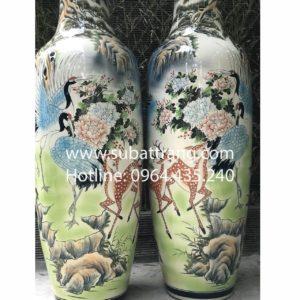 Lộc bình song hạc Bát Tràng - 70082