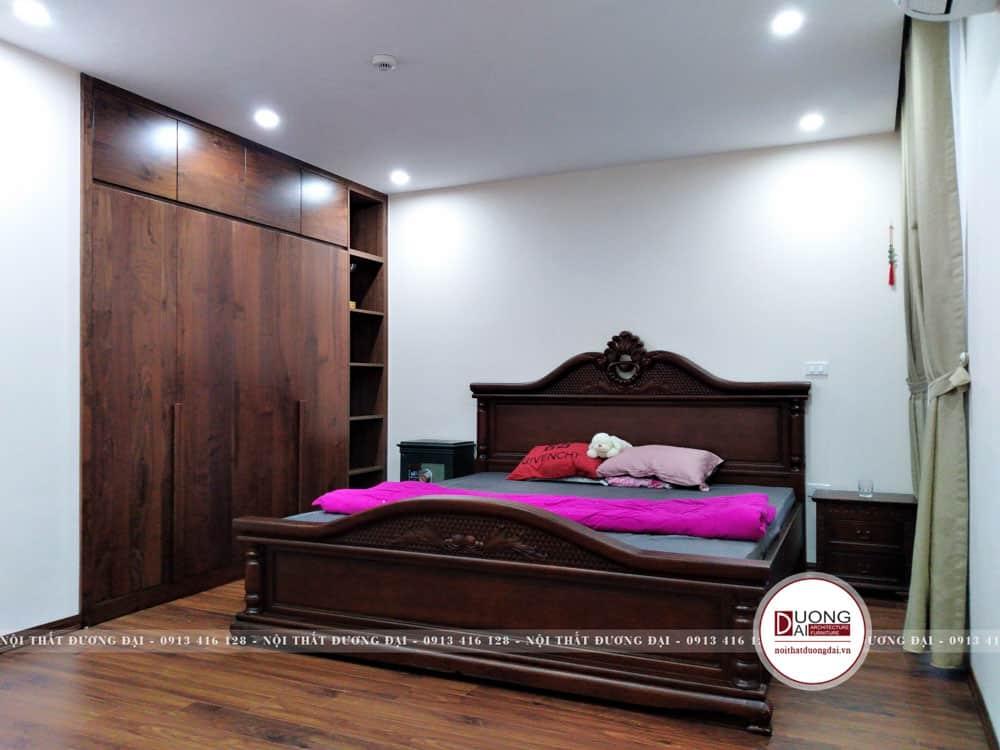 Thiết kế giường ngủ siêu đẹp với phong cách tân cổ